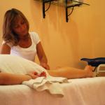 Massaggio rilassante gambe